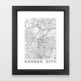 Kansas City Map Line Framed Art Print