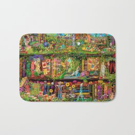 The Secret Garden Book Shelf Bath Mat