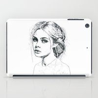 fashion illustration iPad Cases featuring Fashion Illustration by Kasi Turpin