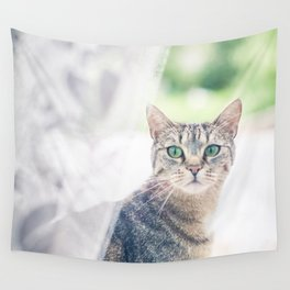 Green Eyes Wall Tapestry