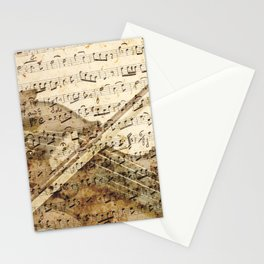 Violin musical note background Stationery Cards
