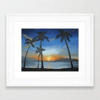 postcard Framed Art Prints featuring postcard by Angela Lynn Harmon