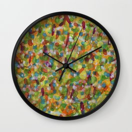 Snow in Spring Wall Clock