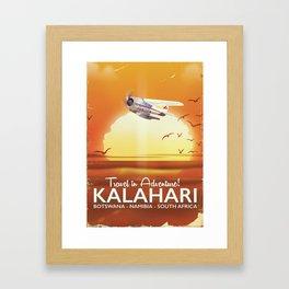 Kalahari Desert Adventure travel poster Framed Art Print
