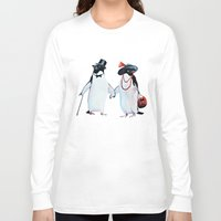 penguin Long Sleeve T-shirts featuring Penguin by Anna Shell