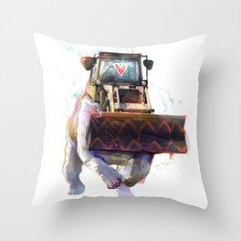Dozer Bulldozer Throw Pillow