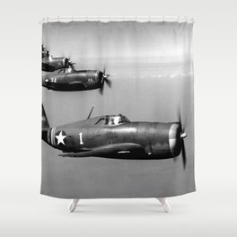 P-47 Thunderbolt Shower Curtain