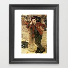 Jules Bastien-Lepage - Le Petit Cireur de Bottes à Londres 1882 Framed Art Print