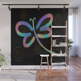 Funky Abstract Dragonfy Digital Painting Wall Mural