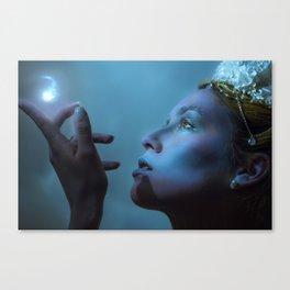 Ice Queen lighting Canvas Print