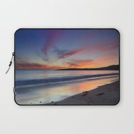"""Bolonia beach at sunset"" Laptop Sleeve"