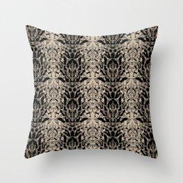 Tiger skin background Throw Pillow