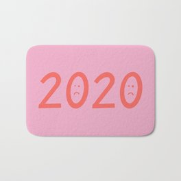 2020 Unhappy Emoji Year Bath Mat