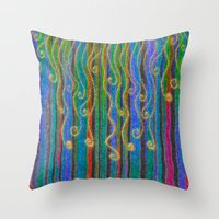 carnival Throw Pillows featuring Carnival by Lindel Caine