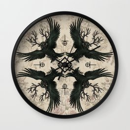 Malphas Halphas and the Murder of Crows Wall Clock