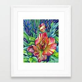 Joseph's Coat - Expressive Flower Art in Acrylic Framed Art Print