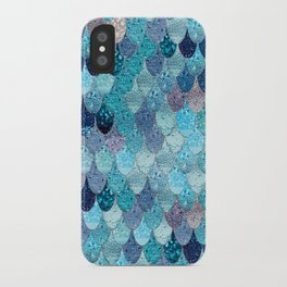 SUMMER MERMAID DARK TEAL iPhone Case