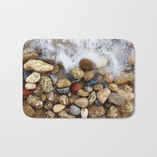 Stones at the beach Bath Mat