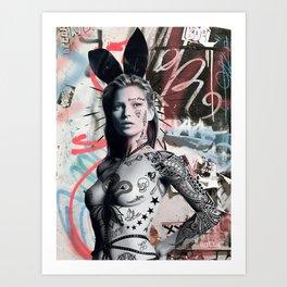 Kate Moss The Punk Queen Art Print