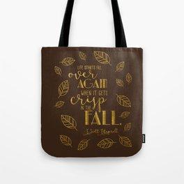 Crisp in the Fall Brown Tote Bag