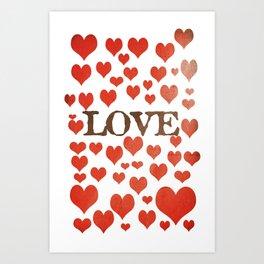 Love Heart Valentines Design  Art Print