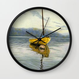 The Little Yellow Sailboat Wall Clock