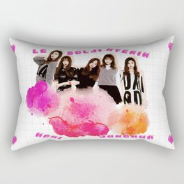 EXID Pink Clouds and Hearts (White Ver.) Rectangular Pillow