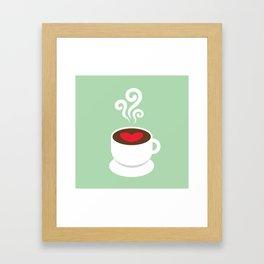 A Cup of Love Framed Art Print