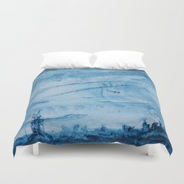 Hammerhead sharks in deep Duvet Cover