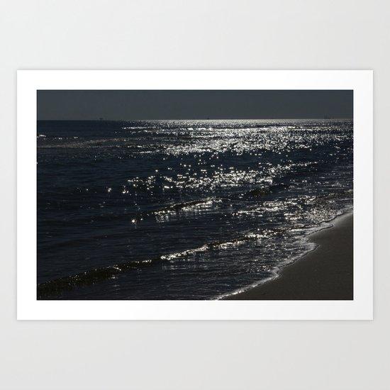Ocean Sparkles Art Print