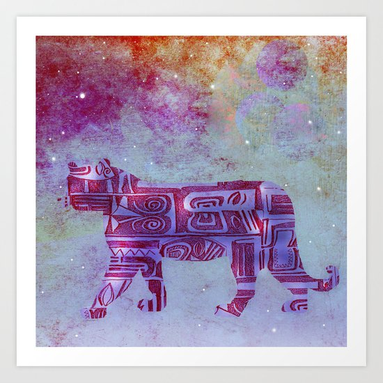 panther's dream Art Print