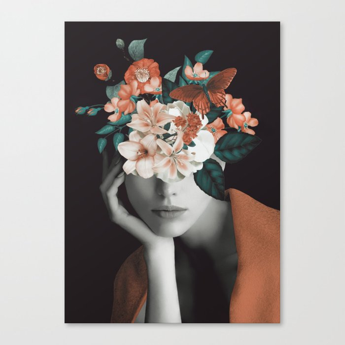 WOMAN WITH FLOWERS 7 Leinwanddruck