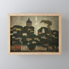 College Hill, Downcity Providence, Rhode Island by Edward Middleton Manigault Framed Mini Art Print