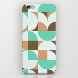 Mint and Chocolate Fresh Pattern iPhone Skin