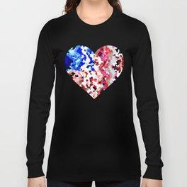American Heart - Geometric Abstract Long Sleeve T-shirt
