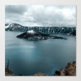Mountain Lake View Canvas Print