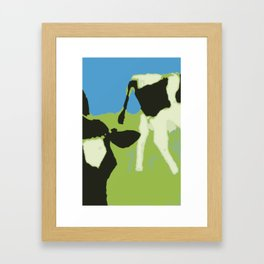 Cow´s head and rear end Framed Art Print