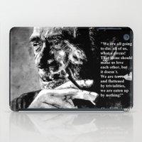 bukowski iPad Cases featuring Charles Bukowski - black - quote by ARTito