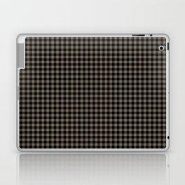 Mini Black and Sandstone Brown Western Cowboy Buffalo Check Laptop & iPad Skin