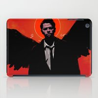 castiel iPad Cases featuring Castiel by Duke Dastardly