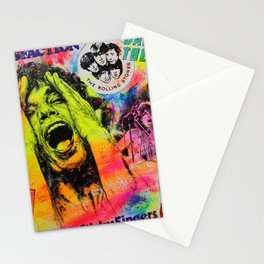 Pop Art Portrait 'Like a Rolling Stone' painting by Silvia Klippert Stationery Cards