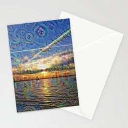 DeepDream Pictures, Landscapes - sunrise Stationery Cards