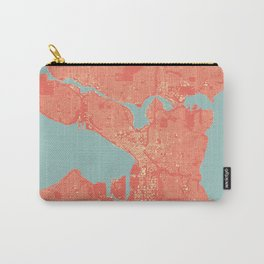 Seattle, Washington City Map, Colorful Carry-All Pouch