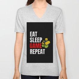 Roblox Eat Sleep Game Repeat Noob Unisex V-Neck