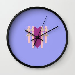 17 E=Hearty3 Wall Clock