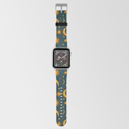 Vintage Sun and Star Print in Navy Apple Watch Band