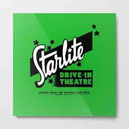 Starlite Drive In Green Metal Print