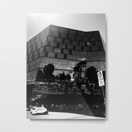 black and white freiburg Metal Print