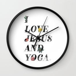 JESUS AND YOGA Wall Clock