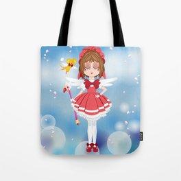 Mini Me Stars: Red Sakura Tote Bag